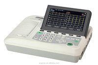 Big colour LCD screen CE marked 6 channel ECG machine with XML/PDF/BMP/JPG/ DICOM format report