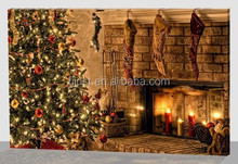LED light wall painting christmas tree oil painting on canvas