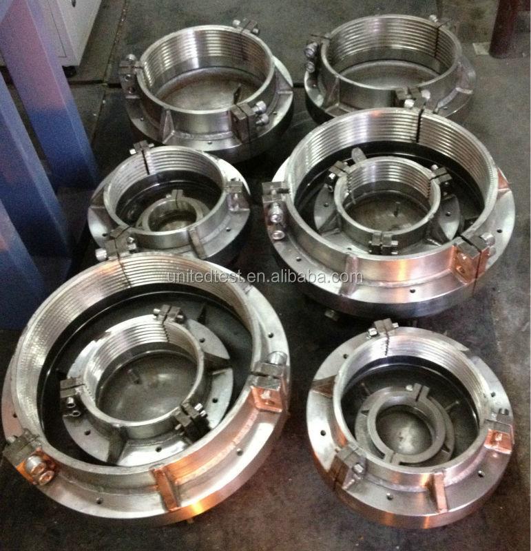 Hydrostatic pressure testing equipment pipe