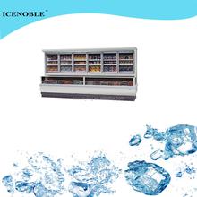 vertical Frozen food refrigerator freezer for restaurant & convenience store
