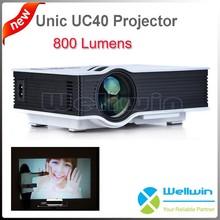 2015 Newest Mini LED Projector 800 Lumens Unic UC40 Projector