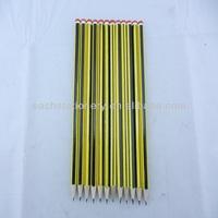 7'' High Quality Hexagonal Stripe HB Pencil With End Dip