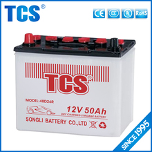 high performance Dry charged 12V50ah N50 car battery for JIS