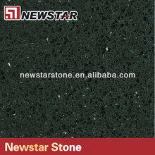 Newstar crystal black quartz stone floor tile