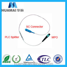 MPO EPON, GPON, FTTx, SC, PC PLC 1x8 fiber optic splitter