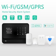 word menu WIFI GSM security system with pet immunity PIR sensor &intelligent gsm home security alarm system see live video