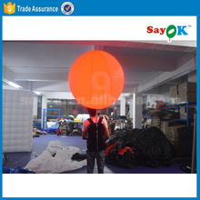 Popular inflatable led ball backpack balloon holder supplies