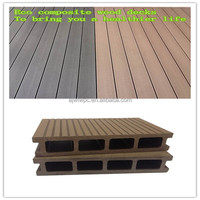 Weilong factory 150x31mm plastic tongue and groove decking outdoor