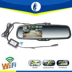 4.3 Inch LCD Monitor wireless Waterproof Wifi Car Rear View Camera With Auto Reversing System