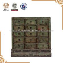 antico in legno massello cinese shandong armadietto dei medicinali