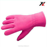 womens pink thin sport gloves, touch screen fleece gloves
