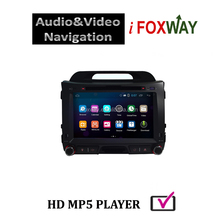 Hot selling elegant pure Android4.4.4 2 din car audio navigation system