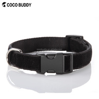 Adjustable Black Dog Velvet Collars and Leash Pet Outdoor Products Factory