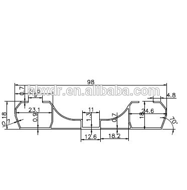 Oem aluminium double coulissante rideau double rail coulissant voie de rideau - Double rail coulissant ...