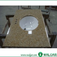 Cheap price golden sand granite vanity tops with vessel sink