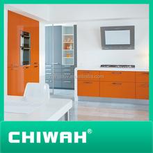 2014 china hot sale laminate kitchen cabinet door orange color