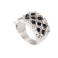 925 silver ring with inlaying antique diamond back ring