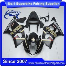 FFGSU007 Motorcycle ABS Fairing Kit For GSX R1000 GSXR1000 2003 2004 Matt Black Rizla