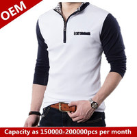 Mens t-shirt with fashionable and custom design manufacturing in china
