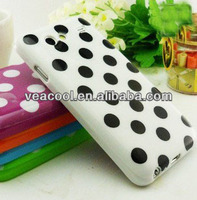 Polka Dots Soft TPU Back Phone Case Cover for Samsung Galaxy S Advance i9070 Case