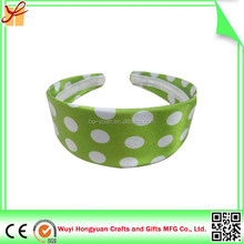 Custom polka dot wide plastic headband for women/daliy life hair accessory