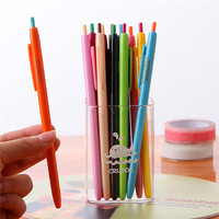 Korean personalized stationery cheap and popular plastic gel ink pen girls