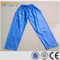 SUNNYHOPE waterproof hooded blue outdoor raincoat for biker with pants