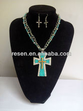 2014 cross necklace blue topaz necklace meaning