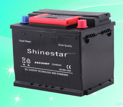 Competitive price 56030 DIN 60 12V 60AH auto batteries car battery