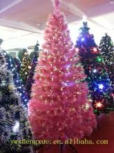 New Fashion Artificial Fiber Optic Plastic Pink Christmas Tree