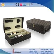 Luxurious leather wine bottle case, custom leather wine case