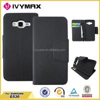 2015 hot item leather belt clip flip wallet case for samsung grand prime G530
