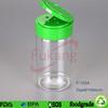 125ml empty round clear PET plastic spice jar bottles for powder and salt wholesale