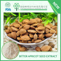 Bitter Apricot kernel extract laetrile 98% powder,100% natural laetrile powder