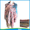 lady cashmere pashmina with feather pattern