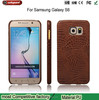 Factory wholesale mobile phone leather case for samsung galaxy s6 crocodile pattern for samsung s6 leather case