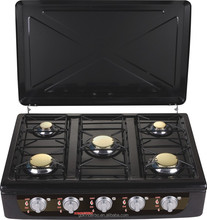 JK-005HHB Europe electric ignition cooking range five burner cooking range