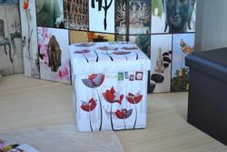 Rectangle foldable PU Leather ottoman storage