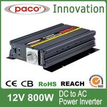 Solar panel power inverter 800W,12V DC to 220V/110V AC,with CE CB ROHS certificate