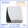 173*125*30mm plastic network enclosure parted with ray transmitting apparent cover and radiating bottom as STB and DVB