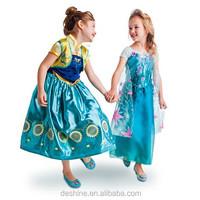Hot NEW summer wholesale children frozen dress elsa MX009
