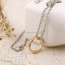 Fashion the lord of the ring pendant necklace silver/gold plated men chain necklace