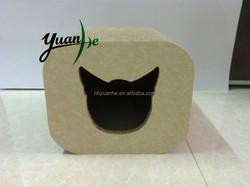 Cave Shape Customized Corrugated Cardboard Cat Scratcher Cat Scratch House