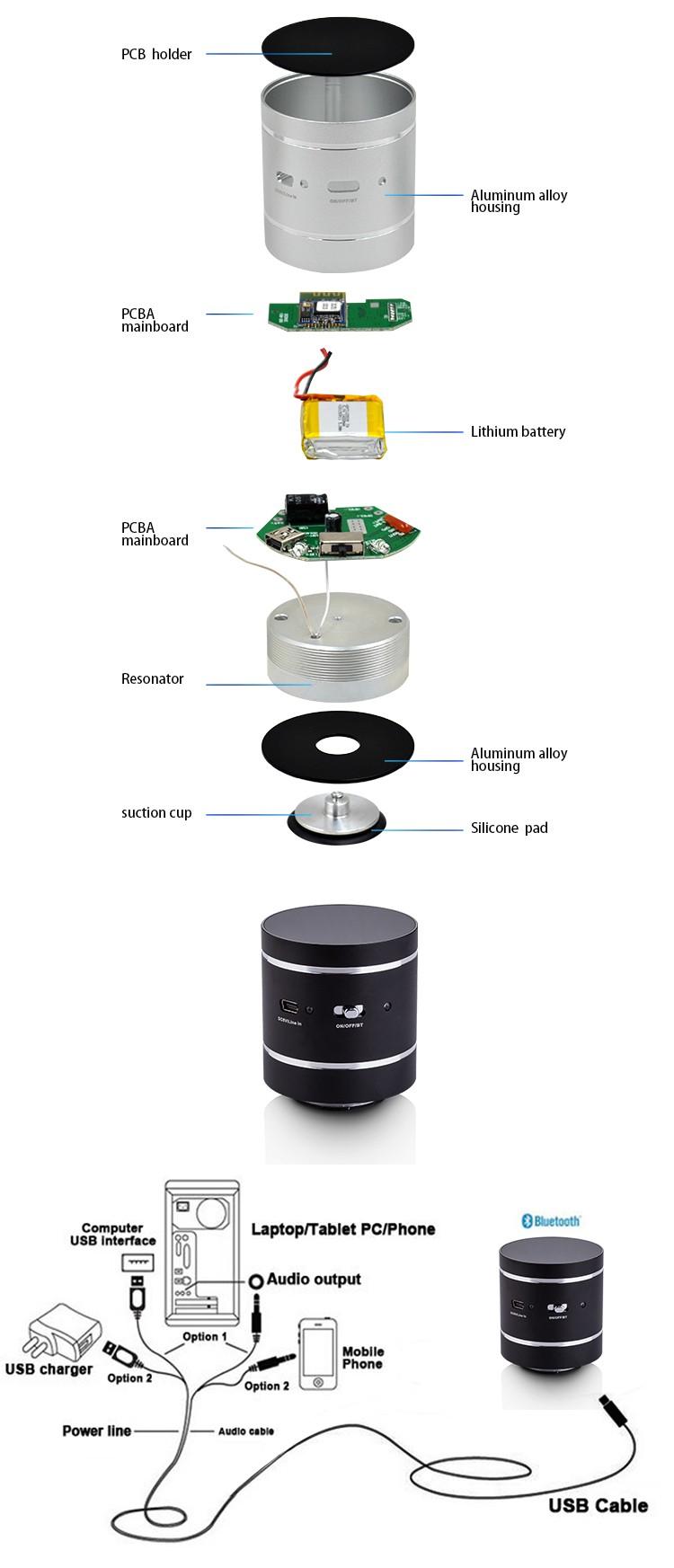 mini portable resonance bluetooth vibration speaker stick-on speaker surface speaker g.jpg