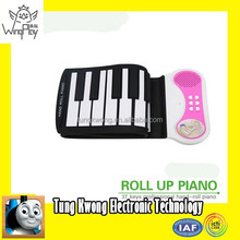 2015 hot new product red plastic 37 keys folding piano keyboard for kids