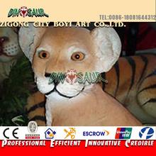 2015 New product vivid littel animal animatronic lion