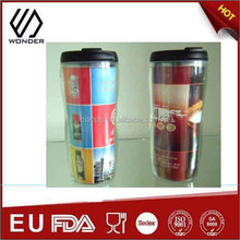 BPA-FREE Double Wall Plastic Cup Photo Inserts