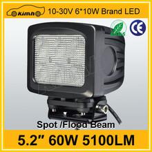 "Super bright 5.2"" 60w 5100LM trucks led work light"