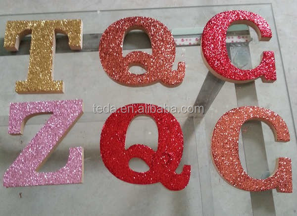 Glitter Power alphabet letters (72)
