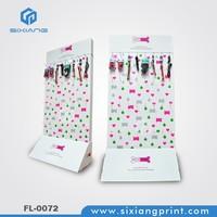 OEM/ODM design cardboard peghook display pedestals for hanging products